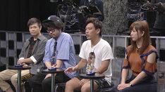 審査員を務める(左から)品川庄司・品川、川田十夢、箕輪厚介氏、紗倉まな。(c)日本テレビ