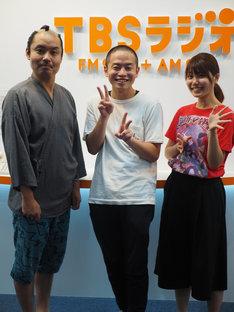 (左から)お侍ちゃん、ゾフィー上田、ターリーターキー伊藤。(c)TBSラジオ