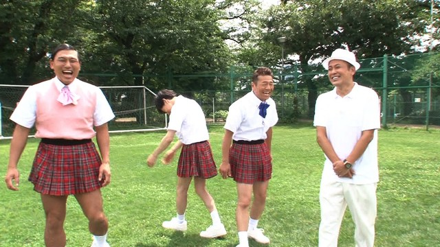 「ミニスカート陸上2018」のワンシーン。(c)テレビ朝日