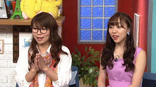 左から相席スタート・ケイ、須田亜香里。(c)読売テレビ
