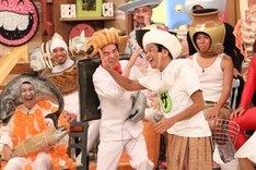 今田耕司(中央)、ネプチューン堀内(右)らが出演する「さんまのお笑い向上委員会」のワンシーン。(c)フジテレビ