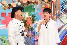 左から木梨憲武、和田アキ子。(c)日本テレビ