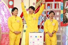 (左から)新実彰平アナ、さや香。(c)関西テレビ
