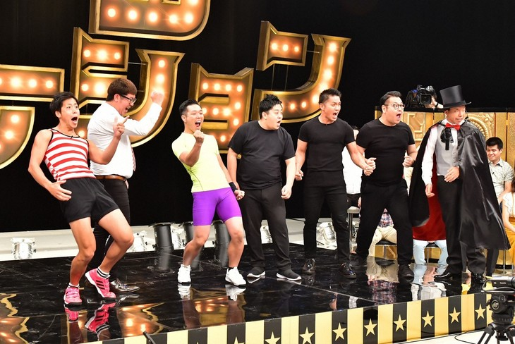 「有田ジェネレーション」に出演する、(左から)ゆかりてるみ、ラリゴ、バビロン。(c)TBS