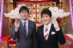 左から羽鳥慎一、林修。(c)日本テレビ