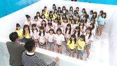 「アイドル生簀 パン食い対決」のワンシーン。(c)テレビ朝日