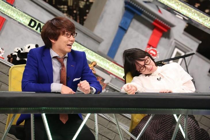 「全力!脱力タイムズ」に出演する(左から)三四郎・小宮、吉岡里帆。(c)フジテレビ