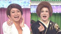 (左から)チョコレートプラネット松尾、IKKO。(c)テレビ朝日