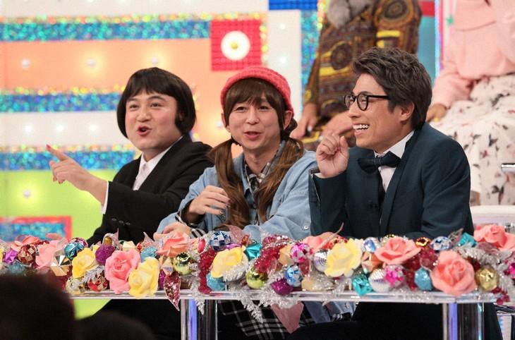 (左から)アンタッチャブル山崎、有吉弘行、ロンドンブーツ1号2号・田村淳。(c)テレビ朝日