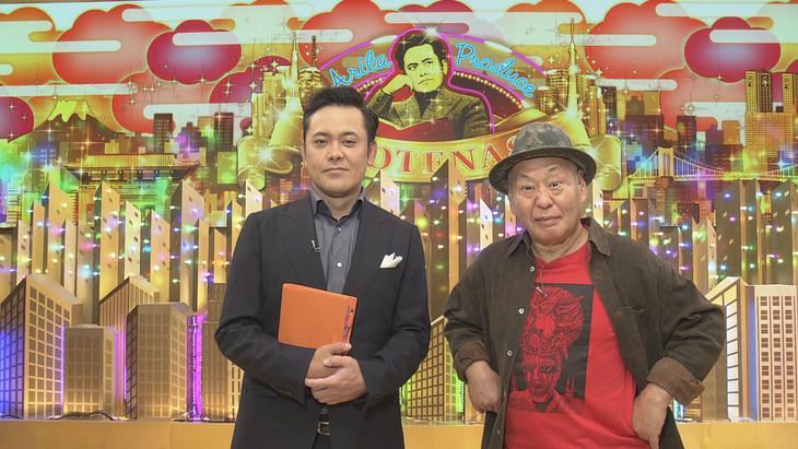 左から有田P、ゲストの泉谷しげる(右)。(c)NHK
