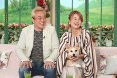 (左から)ガダルカナル・タカ、橋本志穂夫妻。(c)テレビ朝日