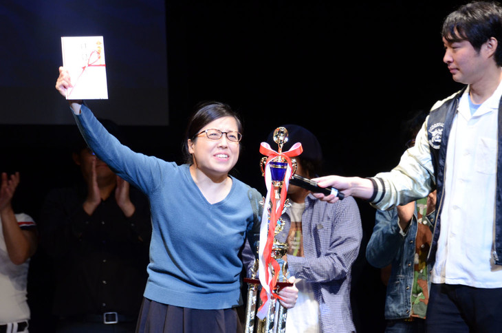 優勝した藤子。