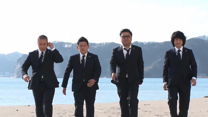 左からハナコ岡部、スピードワゴン井戸田、とろサーモン久保田、ジャッキーちゃん。(c)日本テレビ