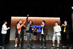 「energy~笑う筋肉~」の概要発表会見にて「e-1グランプリ」で優勝したのは見取り図・盛山。