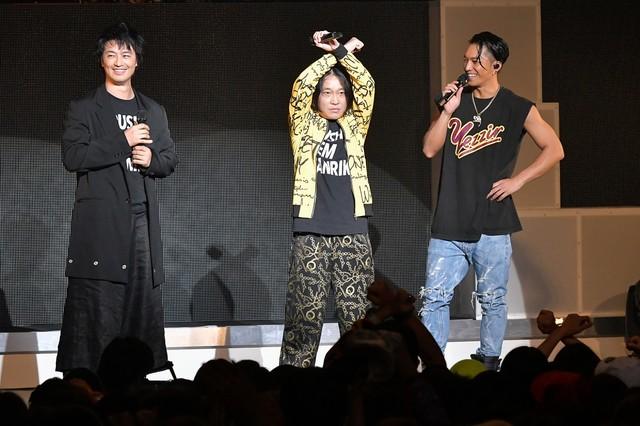左から斎藤工、永野、SWAY。