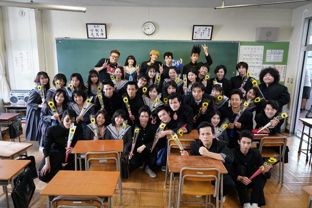 「今日から俺は!!」より、軟高の生徒たち。