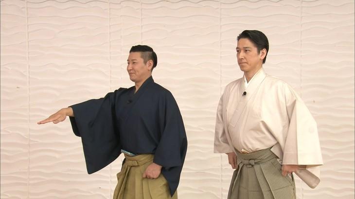 「金曜★ロンドンハーツ」SPで共演する(左から)チョコレートプラネット長田、和泉元彌。(c)テレビ朝日