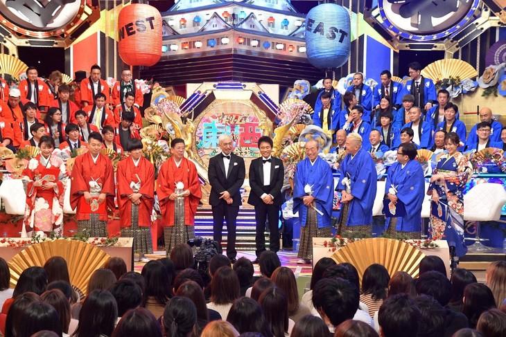 「笑いの王者が大集結!ドリーム東西ネタ合戦」のワンシーン。(c)TBS
