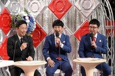 左から赤星憲広、銀シャリ。(c)読売テレビ