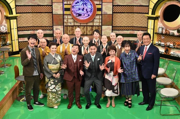 「ぶっちゃけ寺 元号が変わる今年だから行っておきたい!人気寺社の開運パワー&マナーも学ぶSP」の出演者たち。(c)テレビ朝日