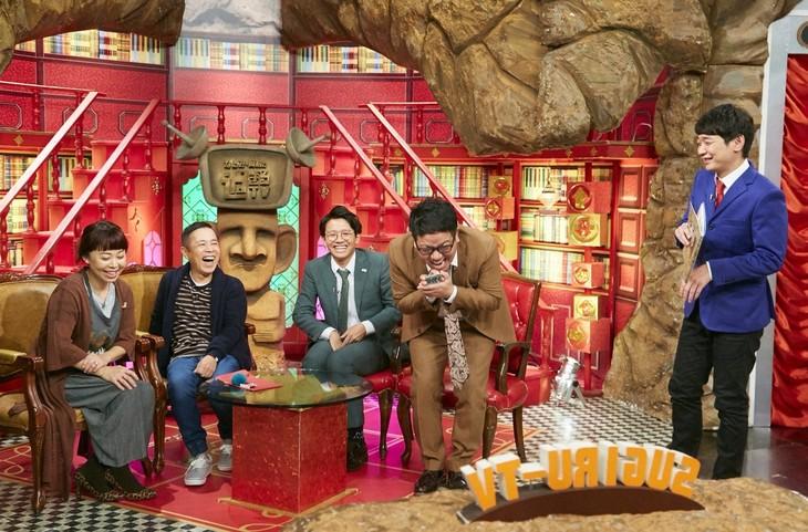 「なるみ・岡村の過ぎるTV」に出演する(左から)なるみ、ナインティナイン岡村、ミキ、銀シャリ鰻。(c)ABC