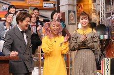 左からヒロミ、青山テルマ、藤田ニコル。(c)日本テレビ