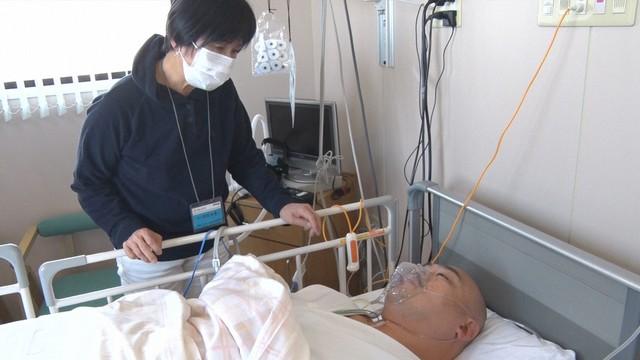 病室での様子。(c)TBS