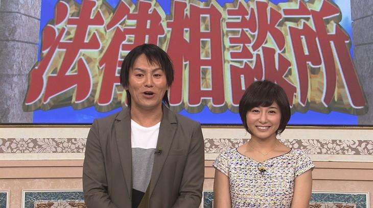 左から狩野英孝、市來玲奈アナウンサー。(c)日本テレビ