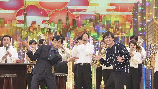 ピエール瀧のためのネタを披露するラバーガール。(c)NHK