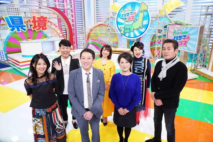 「明日またげる県境バラエティ ハザマのドラマ」の出演者たち。(c)関西テレビ
