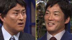 (左から)神奈月、長嶋一茂。(c)テレビ朝日