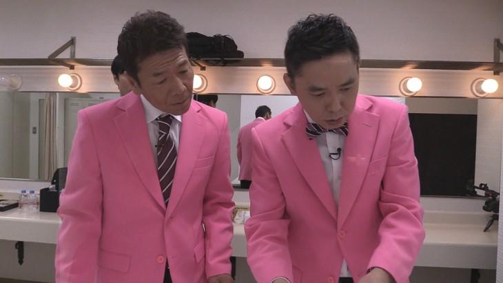 「太田上田」で、劇団ひとりプロデュースの脱出ゲーム企画に臨む(左から)くりぃむしちゅー上田、爆笑問題・太田。(c)中京テレビ