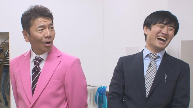 「太田上田」に出演する(左から)くりぃむしちゅー上田、劇団ひとり。(c)中京テレビ