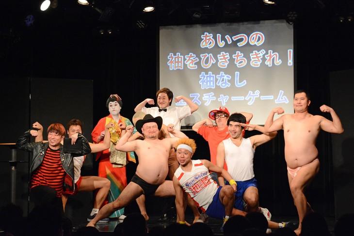 「サンシャイン池崎presents 袖なし芸人フェスティバル2019!~さらば平成、こんにちは無袖~」のワンシーン。