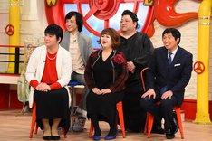 「大物ものまねタレント大集合スペシャル」に集結する5名。(c)関西テレビ