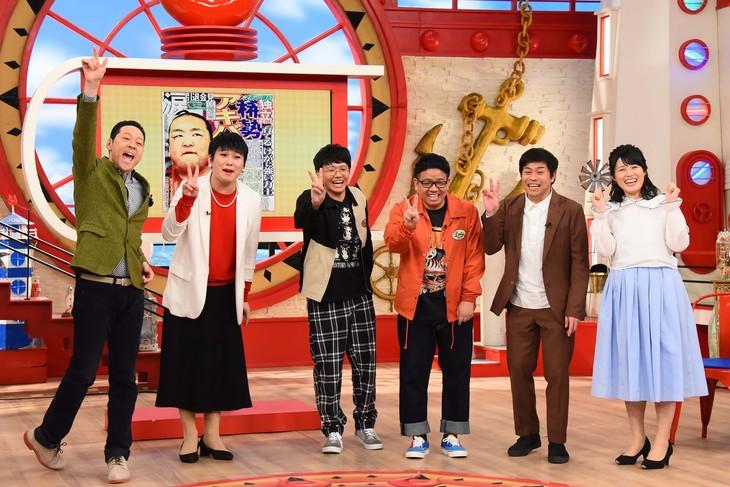「マルコポロリ!」で「アッコにおまかせ!」の予行演習をするミキ(中央)ら。(c)関西テレビ