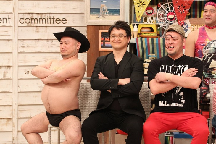 「さんまのお笑い向上委員会」に出演する(左から)ハリウッドザコシショウ、ガリットチュウ福島、野性爆弾くっきー。(c)フジテレビ
