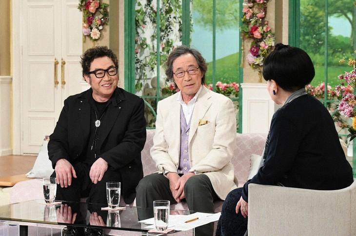 「徹子の部屋」に出演する(左から)コロッケ、武田鉄矢、黒柳徹子。(c)テレビ朝日