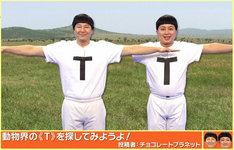 動物界で「T」を探すTT兄弟。(c)NHK