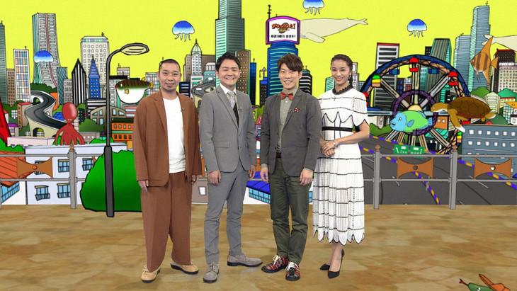 MCを務める千鳥、横山だいすけ、高橋メアリージュン。(c)NHK