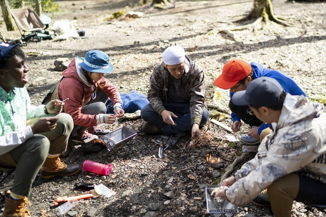 「おぎやはぎのハピキャン ~キャンプはじめてみました~」のワンシーン。(c)メ~テレ