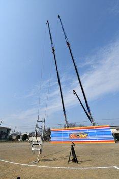 高さ30メートルのブランコ。(c)読売テレビ