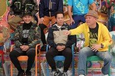 (左から)山下健二郎、FUJIWARA原西、千原せいじ。(c)テレビ朝日