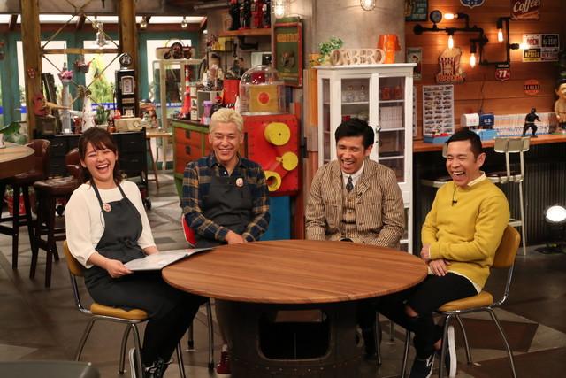 間寛平と村上ショージのVTRを観るスタジオ出演者たち。(c)関西テレビ
