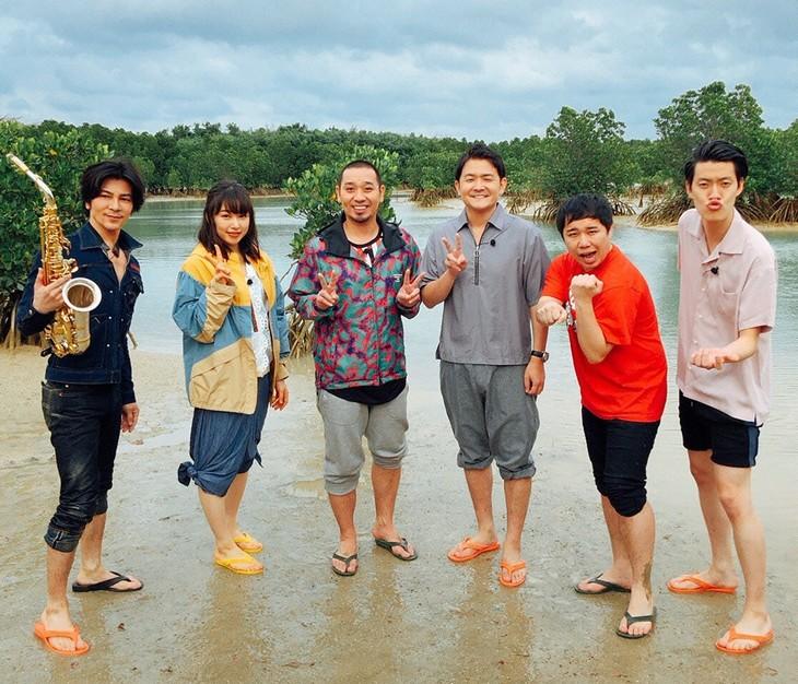 左から武田真治、桜井日奈子、千鳥、霜降り明星。(c)日本テレビ