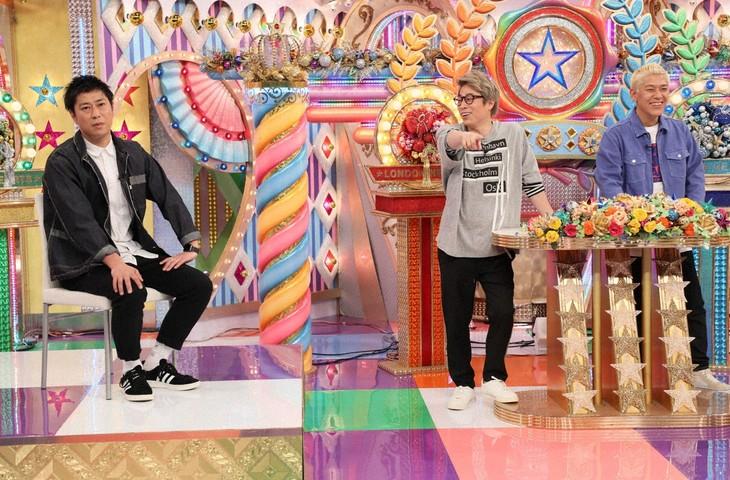 「ロンドンハーツ」に出演する(左から)パンサー尾形、ロンドンブーツ1号2号。(c)テレビ朝日