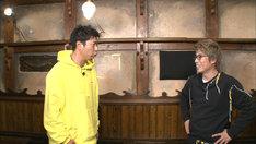 (左から)パンサー尾形、ロンドンブーツ1号2号・田村淳。(c)テレビ朝日