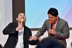 千鳥・大悟(左)が「大悟ちゃんカチン!」というギャグを披露したワンシーン。