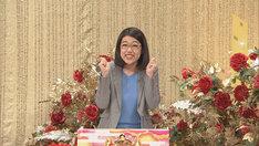 横澤夏子による新コーナー「ステキなスクープでおもてなす」の様子。(c)NHK