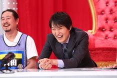 千原ジュニアと笑い飯・西田(左)。(c)関西テレビ